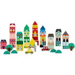 FAO Schwarz 50-pc. International Building Wooden Block Set