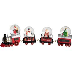 FAO Schwarz 4-pc. Train Snow Globe Set