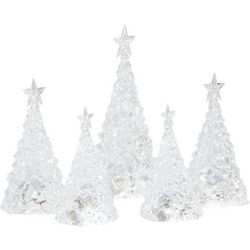 FAO Schwarz Color-Changing LED Acrylic Trees