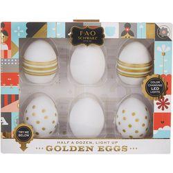 FAO Schwarz 6-pc Light Up Golden Eggs