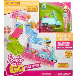 Barbie On the Go Post Office Motorized Scooter Set