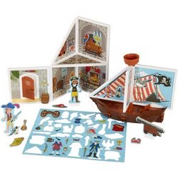 Melissa & Doug Wood Pirate Cove Magnet Play Set