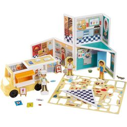 Melissa & Doug Wood Pizza & Ice Cream Shop Magnet Play Set