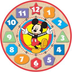 Melissa & Doug Disney Mickey Mouse Wooden Clock