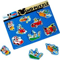 Melissa & Doug Disney Mickey Mouse Vehicles Sound Puzzle