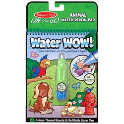 Melissa & Doug Animal Water-Reveal Pad On the Go Set