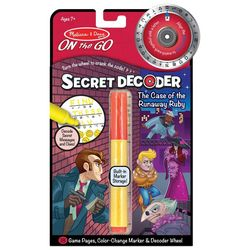 Melissa & Doug Secret Decoder Runaway Ruby On The Go Set