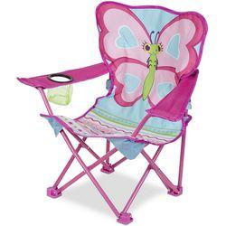 Melissa & Doug Girls Cutie Pie Butterfly Camp Chair