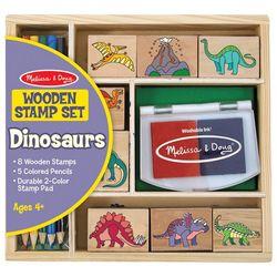 Melissa & Doug Wooden Dinosaurs Stamp Set