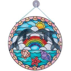 Melissa & Doug Stained Glass Made Easy Dolphin Sticker Kit