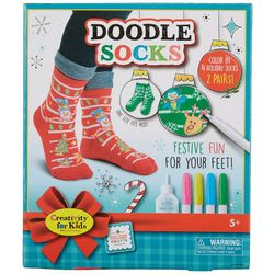Creativity For Kids Holiday Crafts Doodle Socks