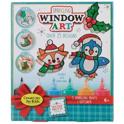 Creativity For Kids Sparkling Window Art For Holiday