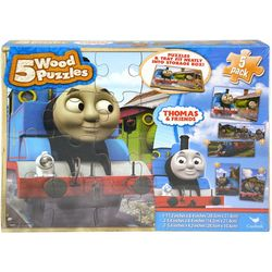 Thomas & Friends 5 Pack Wooden Puzzles Set