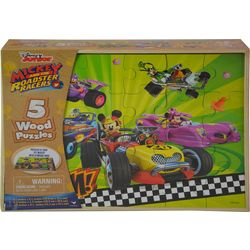 Disney Junior Mickey And The Roadster Racers 5 Wood Puzzles