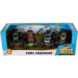 Hot Wheels 4-pk. Cool Crashers Monster Trucks