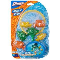 Banzai 7-pc. Dive N' Fish Pool Toy