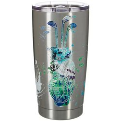 Nukuze 20 oz. Stainless Steel Hole In One Travel Tumbler