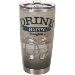 Nukuze 20 oz. Stainless Steel Drink Happy Thoughts Tumbler