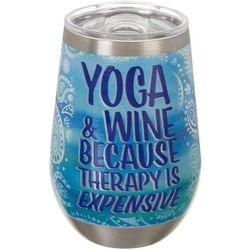 Nukuze 12 oz. Stainless Steel Yoga & Wine Tumbler