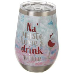 Nukuz 12 oz. Stainless Steel Na'maste Home Wine Tumbler