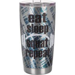 Nukuze 20 oz. Stainless Steel Eat Sleep Squat