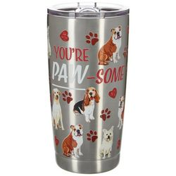 Nukuze 20 oz. Stainless Steel Paw-Some Tumbler