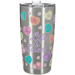 Nukuze 20 oz. Stainless Steel Life Is Sweet Travel Tumbler