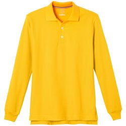 French Toast Big Boys Uniform Long Sleeve Pique Polo
