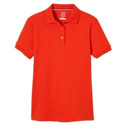 Little Girls Short Sleeve Interlock Polo Shirt