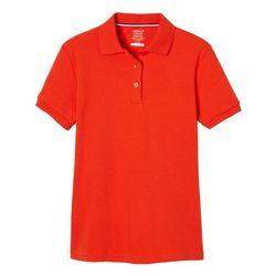 French Toast Big Girl Short Sleeve Interlock Polo Shirt