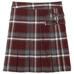 Big Girls Adjustable Waist Plaid Scooter