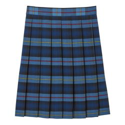 Big Girls Mid Length Plaid Pleated Skirt