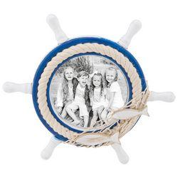 Beach Combers 4'' x 4'' Shipwheel Photo Frame
