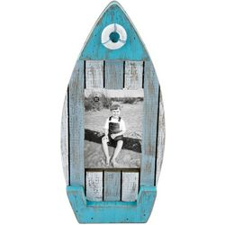 Beach Combers Wood Boat Photo Frame