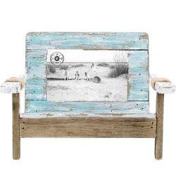 Beach Combers 4'' x 6'' Wood Bench Photo Frame