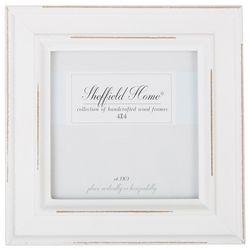 Sheffield Home 4'' x 4'' Distressed White Frame