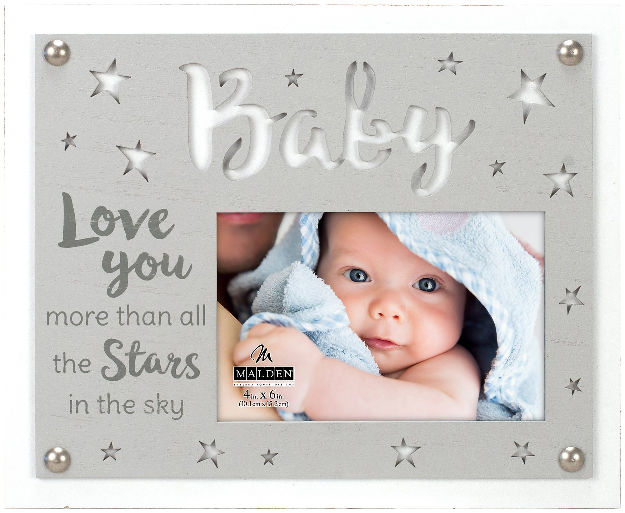 Malden 4 X 6 Baby Love You More Photo Frame 4 X 6 Greywhite