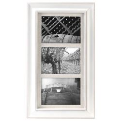 Malden 3 Opening Barnside White Wall Frame