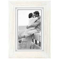 Malden 4'' x 6'' White Wash Photo Frame