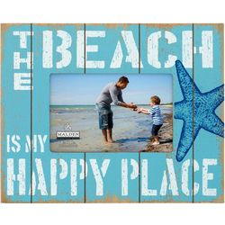 Malden 4'' x 6'' Beach Happy Place Photo Frame