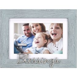 Malden 4'' x 6'' Aqua Blessings Photo Frame