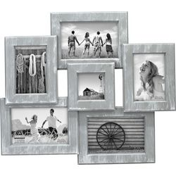 Malden 6 Opening Grey Collage Photo Frame