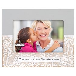 Malden 4'' x 6'' Best Grandma Ever Damask Photo Frame