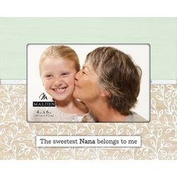 Malden 4'' x 6'' Sweetest Nana Laser Cut Photo Frame
