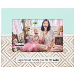 Malden 4'' x 6'' Happiness Aunt Laser Cut Photo Frame