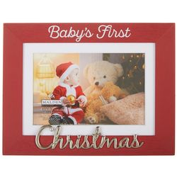 Malden 4'' x 6'' Baby's First Christmas Photo Frame