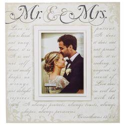 Malden 5'' x 7'' Mr. & Mrs. Script Photo Frame