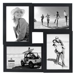 Malden 4 Opening Black Collage Frame