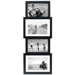 Malden 4 Opening Black Panel Collage Frame