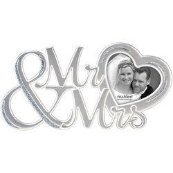 Malden 3'' x 3'' Mr. & Mrs. Photo Frame